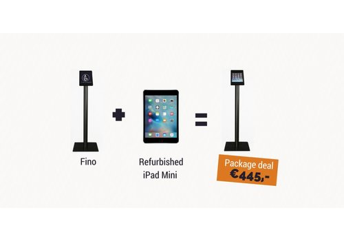 Bravour iPad vloerstandaard Fino + iPad Mini, zwart, wit