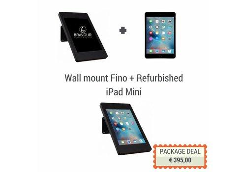 Bravour Soporte de pared/mesa + iPad Mini, Fino negro