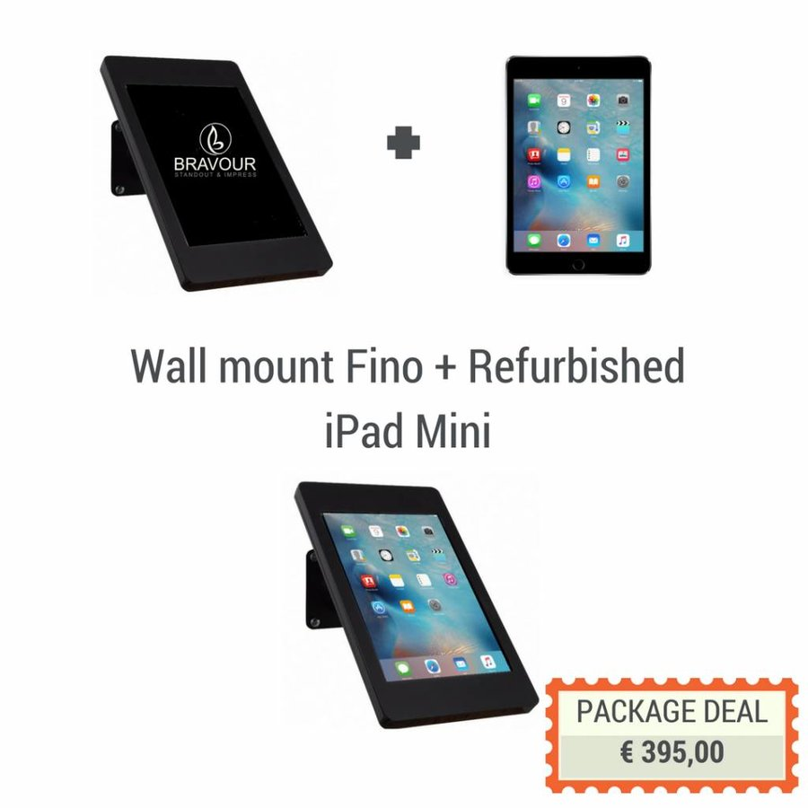 iPad wall/desk Stand with iPad mini included, black