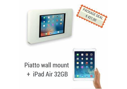 "Bravour Vlakke iPad wandhouder voor iPad 9.7"" Piatto + iPad Air 32GB, wit"