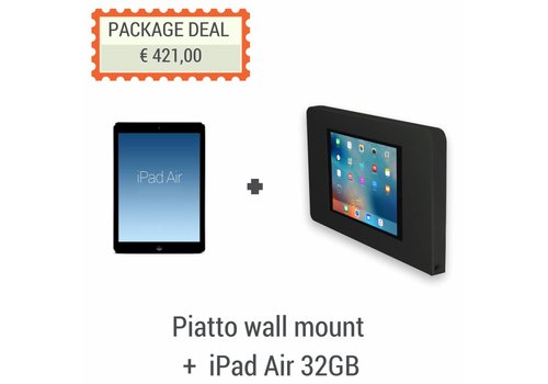 Bravour iPad Air 32GB + Flat wall stand for iPad Air Piatto, black