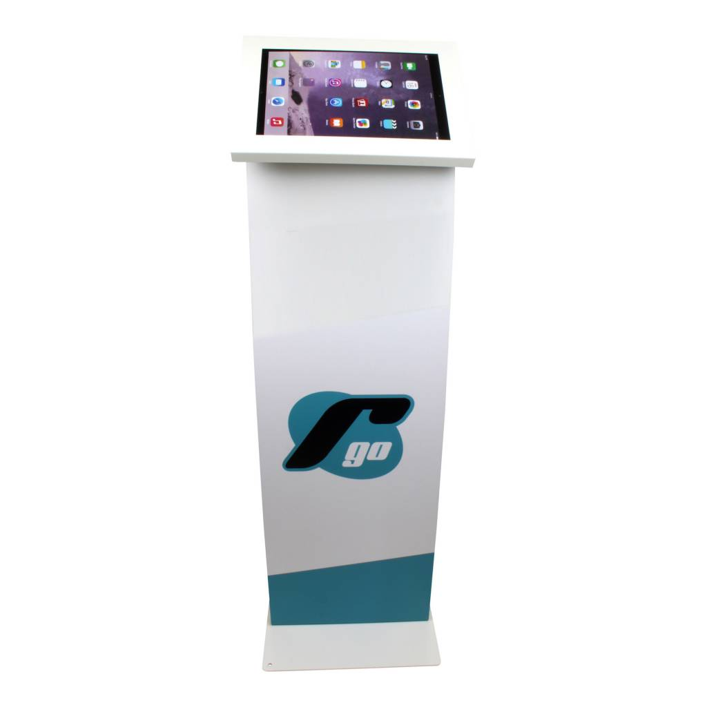 Display stand for tablets 12 13 inch white securo exhibishop for 13 inch table