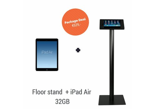 Bravour iPad vloerstandaard Fino + iPad Air 32GB WiFi, zwart