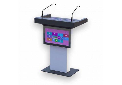 Bravour Atril, multimedia, podium, digital, audiovisuales integrados, Bruxelles