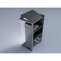 Box - Elegante atril elaborado en acero inoxidable, combinable con madera ó acrílico