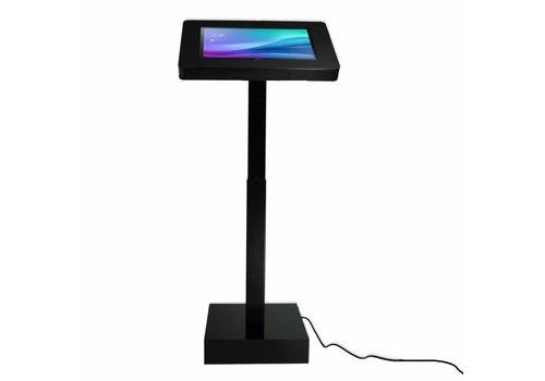 """Bravour Elektrisch hoogte verstelbare tablet vloerstandaard, voor Samsung Galaxy View 18.4"""" tablet,  Ascento. Wit,  zwart"""