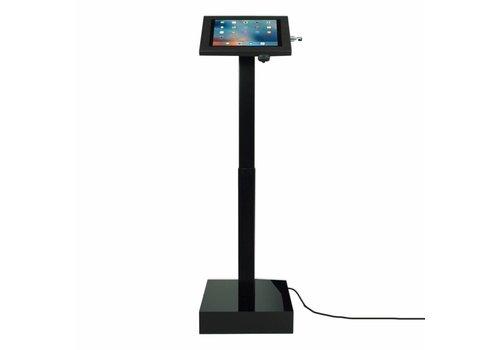 Bravour Elektrisch hoogte verstelbare tablet vloerstandaard, voor 12 tot 13 inch tablets,  Ascento. Wit,  zwart