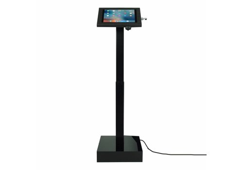 "Bravour Soporte de pie con sistema eléctrico de altura ajustable. Para tablets entre 12 - 13"", cassette Securo, blanco, negro"