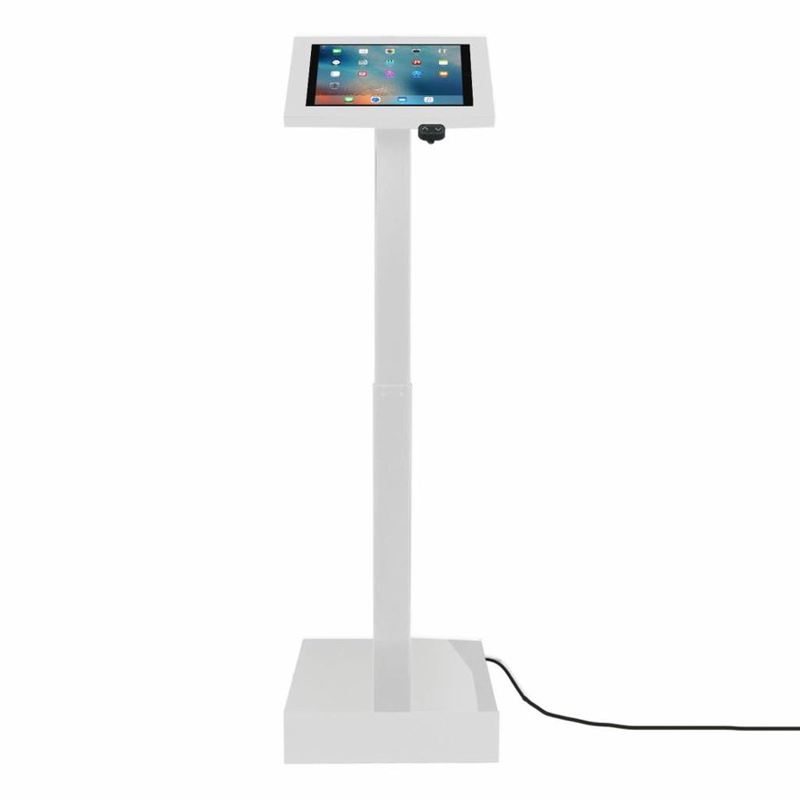 """Electronic height adjustable tablet display with universal Securo casing for all tablets between 12-13"""", Ascento"""