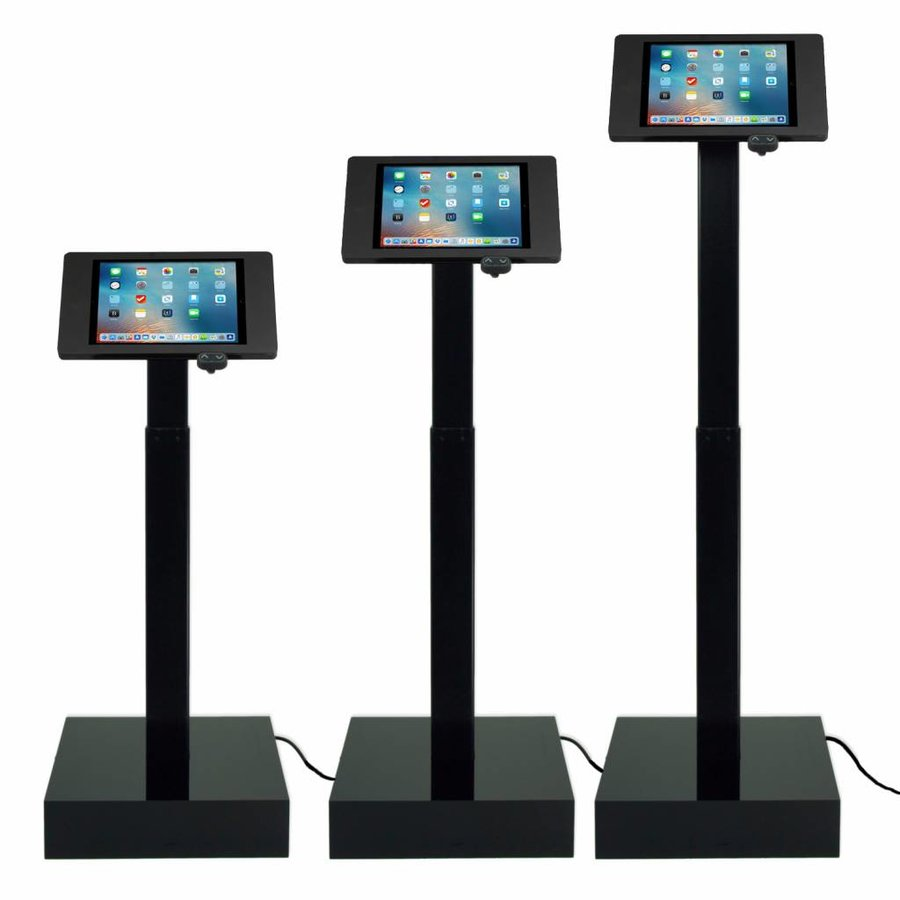 "Electronic height adjustable tablet display with universal Securo casing for all tablets between 9-11"", Ascento"