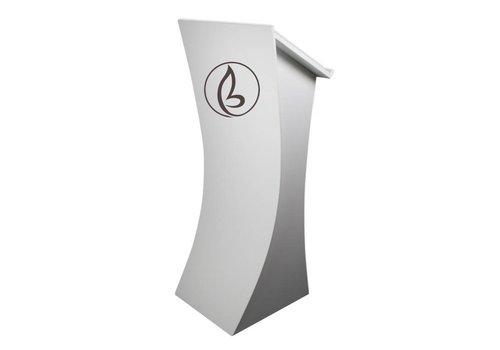 Bravour Logo - bedrijfsnaam op spreekgestoelte