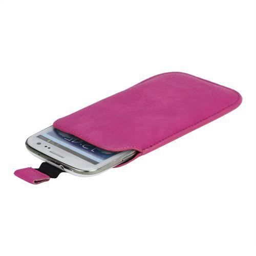 Samsung Galaxy S4 Hoesje Leder Roze