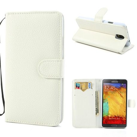 Galaxy Note 3 Wallet/Stand Case Leder Wit