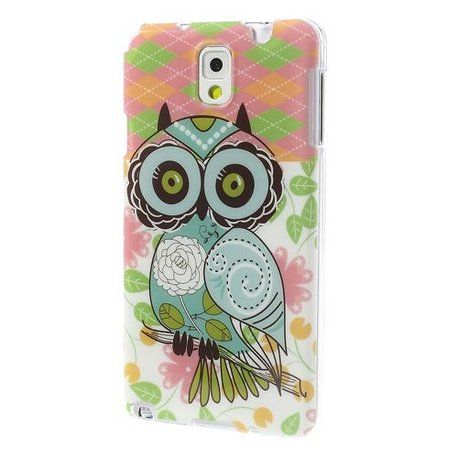 Artistieke Uil Galaxy Note 3 TPU Hoes