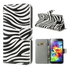 Zebra print Samsung Galaxy S5 portemonnee hoes