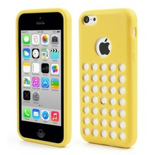 Geel geperforeerd TPU iPhone 5C hoesje
