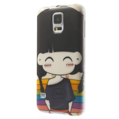 Blozend meisje Samsung Galaxy S5 hoesje