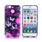 Bloemen en vlinders iPhone 6 TPU hoesje