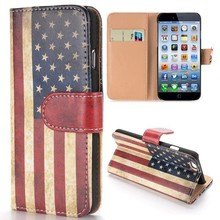 Stars and stripes iPhone 6 portemonnee hoes