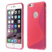 Roze S-line iPhone 6 Plus TPU hoesje