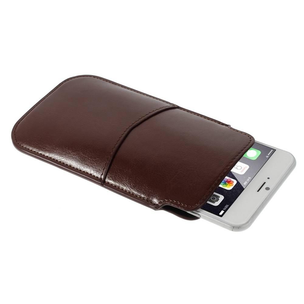 iphone 6 plus insteek hoesje bruin. Black Bedroom Furniture Sets. Home Design Ideas