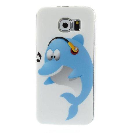 Blauw dolfijntje Samsung Galaxy S6 TPU hoes