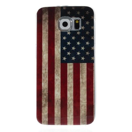 Amerikaanse vlag Samsung Galaxy S6 TPU hoes