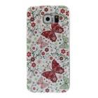 Vlinder en bloemen Samsung Galaxy S6 TPU hoes