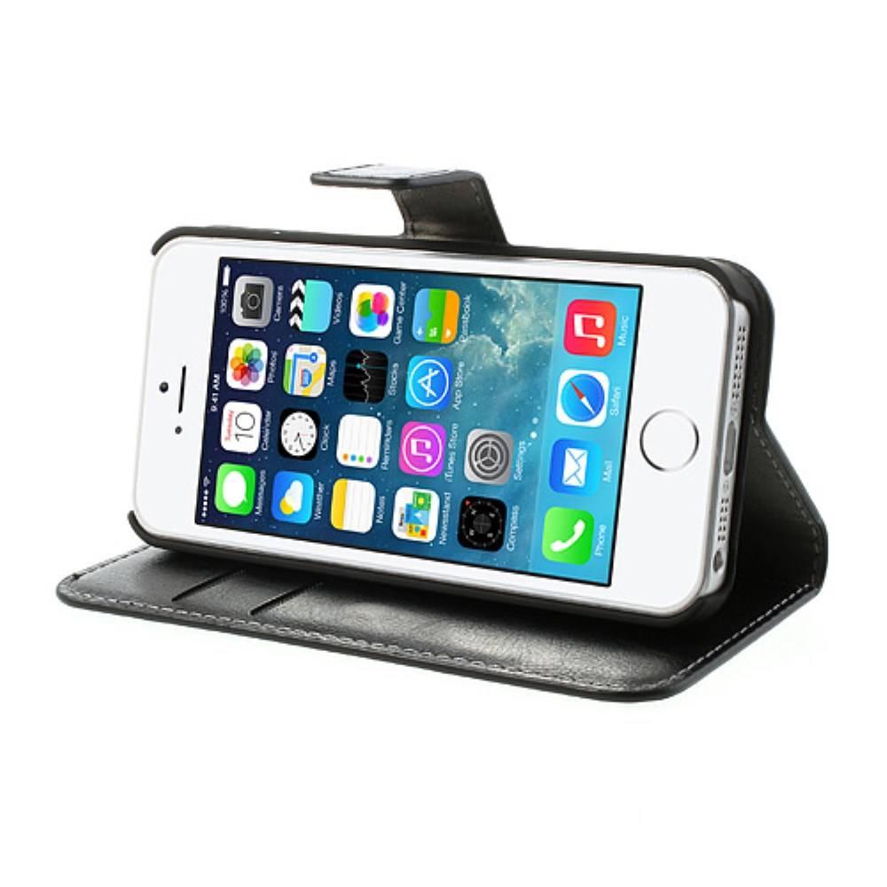 Sony Xperia phone case for sony xperia z1 : Home u00bb iPhone 5/5S portemonnee hoesje zwart leder