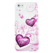 iPhone 5/5S TPU hoesje met harten en vlindertjes