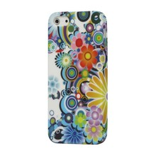 iPhone 5/5S TPU hoesje kleurrijke bloemen