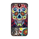 Gebloemde Skull iPhone 6 plus hoesje