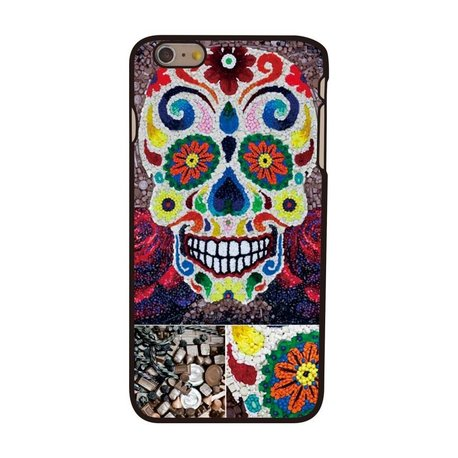 Gebloemde Skull iPhone 6 plus hoesje