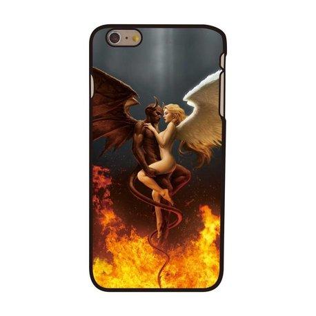 Engel en Duivel iPhone 6 plus hardcase hoesje