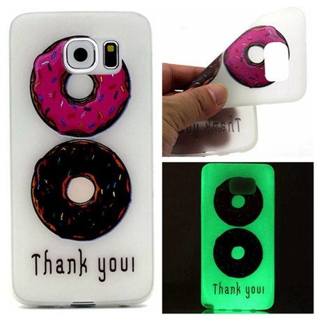 Glow in the dark Donuts TPU hoesje Galaxy S7 Edge