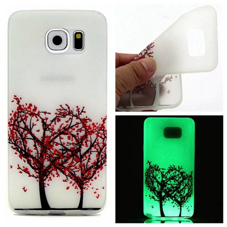 Glow in the dark liefdesboom TPU hoesje Galaxy S7 Edge