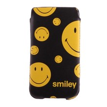Smiley Insteek hoesje zwart met diverse maten smileys