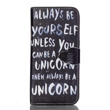Always be a unicorn Galaxy S7 edge portemonnee hoesje