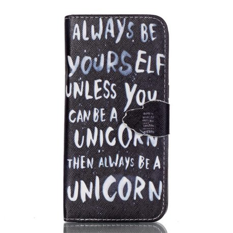 Always be a unicorn Samsung Galaxy S7 edge portemonnee hoesje