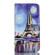 olieverf print eifeltoren Galaxy S7 Edge Portemonnee hoesje
