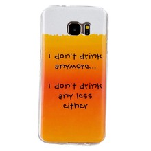 I don't drink anymore TPU hoesje Samsung Galaxy S7 edge