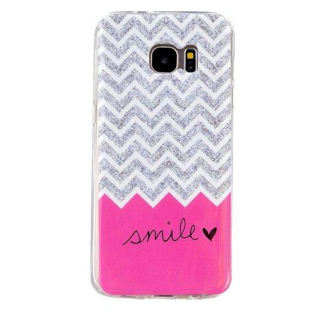 Chevron en smile TPU hoesje Samsung Galaxy S7 edge