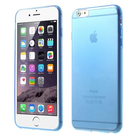 Blauwe slim fit iPhone 6 PLUS TPU hoesje