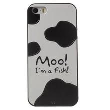 Moo im a fish iPhone SE/5/5S TPU hoesje