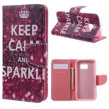 S7 portemonnee hoesje keep calm and sparkle
