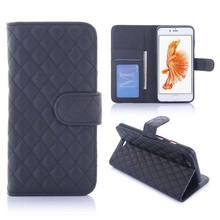 Zwart geruit portemonnee hoesje voor de iPhone 7 plus
