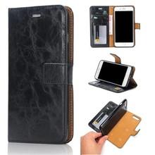 Zwart pu leren iPhone 7 plus wallet hoesje met los te maken case