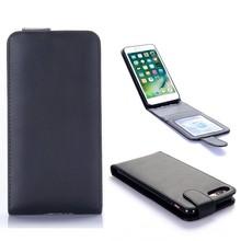 iPhone 7 plus Flip case zwart pu leer