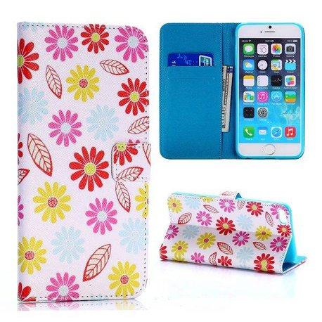 Bloemen en blaadjes iPhone 6 PLUS  portemonnee hoes
