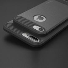 iPAKY Flexibel en stevig iPhone 7 plus TPU hoesje Donker grijs (bijna zwart)